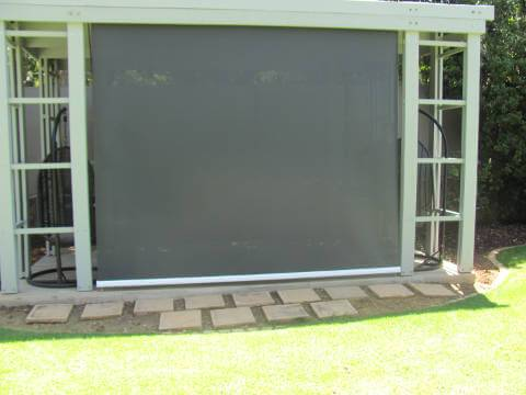 Frameless Outdoor Solar Roller Blind